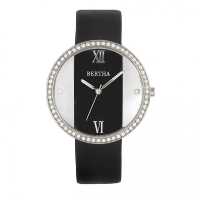 Bertha Ingrid Leather-Band Watch - Black BTHBR9101