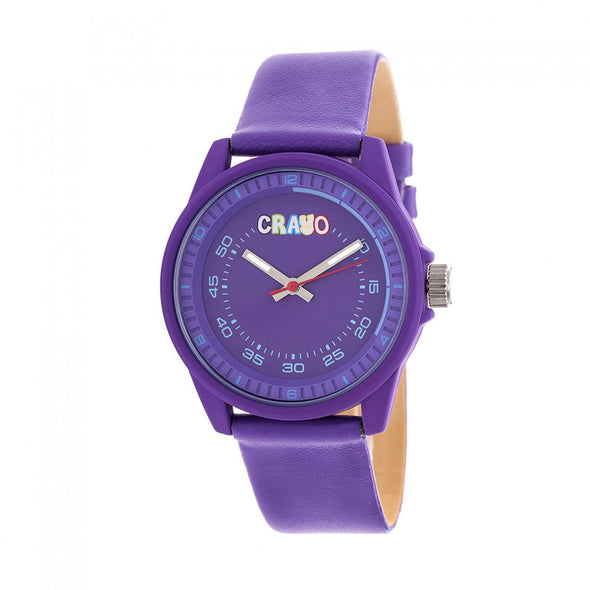 Crayo Jolt Leatherette Strap Watch - Purple CRACR4904