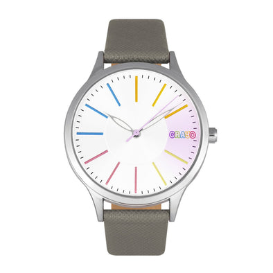Crayo Gel Leatherette Strap Watch - Grey CRACR5101