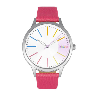 Crayo Gel Leatherette Strap Watch - Hot Pink CRACR5103