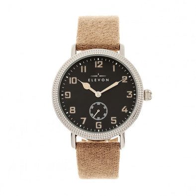 Elevon Northrop Leather-Band Watch - Tan/Black ELE110-4