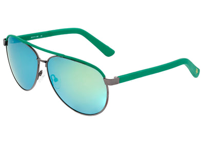 Sixty One Wreck Polarized Sunglasses - Gunmetal/Green SIXS107GM