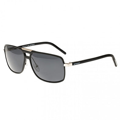 Breed Retrograde Aluminium Polarized Sunglasses - Black/Black BSG017BK