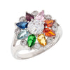 Similar product : Bertha Juliet Women's 18k White Gold Plated Rainbow Floral Statement Fashion Ring