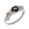 Similar product : Bertha Juliet Women's 18k White Gold Plated Black Cluster Fashion Ring