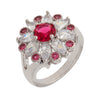 Similar product : Bertha Juliet Women's 18k White Gold Plated Red Floral Statement Fashion Ring