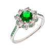 Similar product : Bertha Juliet Women's 18k White Gold Plated Green Flower Fashion Ring