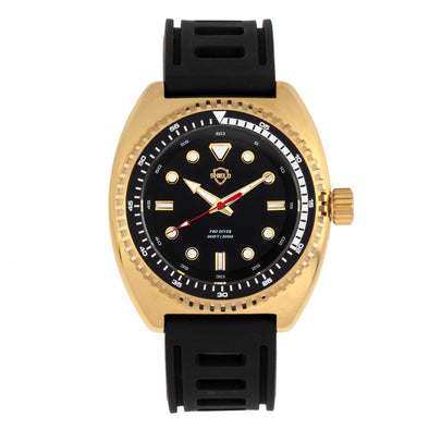 Shield Dreyer Men's Diver Strap Watch - Gold/Black SLDSH107-5