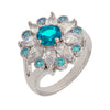 Similar product : Bertha Juliet Women's 18k White Gold Plated Light Blue Floral Statement Fashion Ring