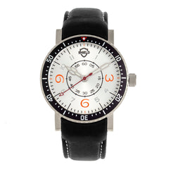 Shield Gilliam Leather-Band Men's Diver Watch - Silver SLDSH100-1