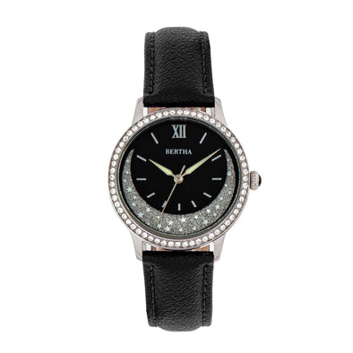 Bertha Dolly Leather-Band Watch - Black BTHBS1001