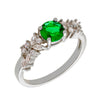 Similar product : Bertha Juliet Women's 18k White Gold Plated Green Cluster Fashion Ring