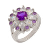 Similar product : Bertha Juliet Women's 18k White Gold Plated Purple Floral Statement Fashion Ring