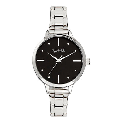Sophie and Freda Milwaukee Bracelet Watch - Silver/Black SAFSF5801