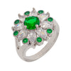 Similar product : Bertha Juliet Women's 18k White Gold Plated Green Floral Statement Fashion Ring