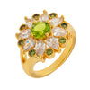 Similar product : Bertha Juliet Women's 18k Yellow Gold Plated Light Green Floral Statement Fashion Ring