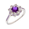 Similar product : Bertha Juliet Women's 18k White Gold Plated Purple Flower Fashion Ring