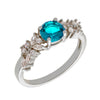 Similar product : Bertha Juliet Women's 18k White Gold Plated Light Blue Cluster Fashion Ring