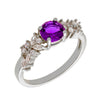Similar product : Bertha Juliet Women's 18k White Gold Plated Purple Cluster Fashion Ring