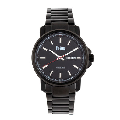 Reign Helios Automatic Bracelet Watch w/Day/Date - Black REIRN5704