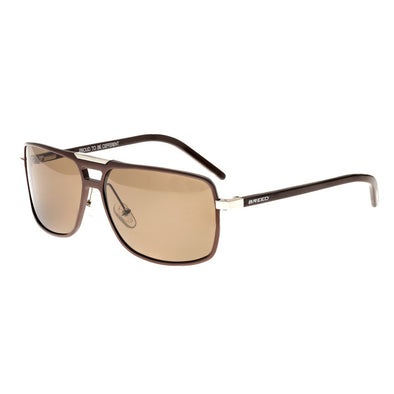 Breed Retrograde Aluminium Polarized Sunglasses - Brown/Brown BSG017BN