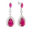 Similar product : Bertha Juliet Women's 18k White Gold Plated Pink Teardrop Fashion Earrings