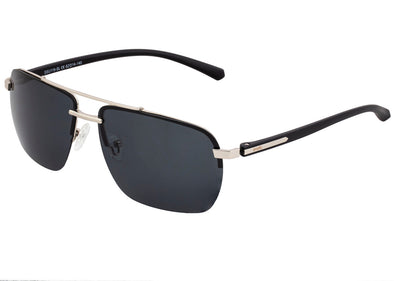 Simplify Lennox Polarized Sunglasses - Silver/Black SSU119-SL