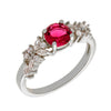 Similar product : Bertha Juliet Women's 18k White Gold Plated Red Cluster Fashion Ring
