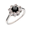 Similar product : Bertha Juliet Women's 18k White Gold Plated Black Flower Fashion Ring