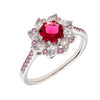 Similar product : Bertha Juliet Women's 18k White Gold Plated Red Flower Fashion Ring