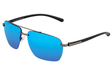 Simplify Lennox Polarized Sunglasses - Gunmetal/Blue SSU119-BL