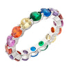 Similar product : Bertha Juliet Women's 18k White Gold Plated Stackable Rainbow Eternity Fashion Ring