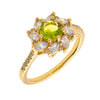 Similar product : Bertha Juliet Women's 18k Yellow Gold Plated Light Green Flower Fashion Ring