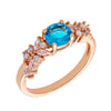Similar product : Bertha Juliet Women's 18k Rose Gold Plated Light Blue Cluster Fashion Ring