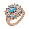 Similar product : Bertha Juliet Women's 18k Rose Gold Plated Light Blue Floral Statement Fashion Ring