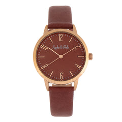 Sophie and Freda Vancouver Leather-Band Watch - Brown SAFSF4906