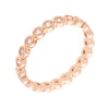 Similar product : Bertha Juliet Women's 18k Rose Gold Plated Stackable Eternity Fashion Ring
