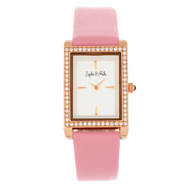 Sophie and Freda Wilmington Leather-Band Watch w/Swarovski Crystals - Pink SAFSF5606