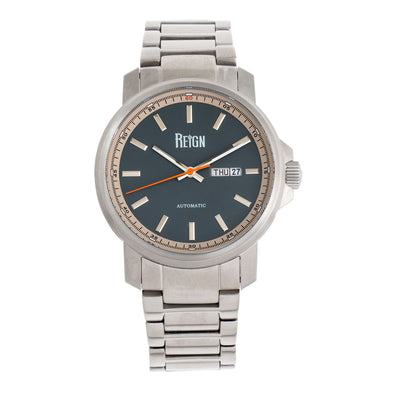 Reign Helios Automatic Bracelet Watch w/Day/Date - Silver/Grey REIRN5703