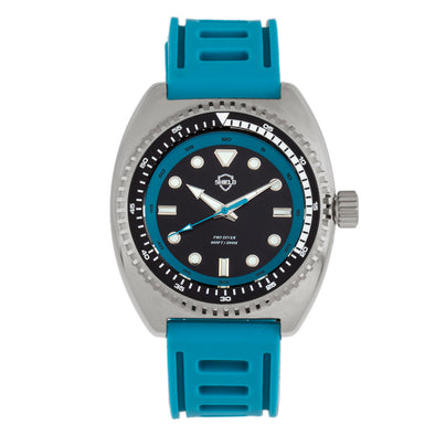 Shield Dreyer Men's Diver Strap Watch - Silver/Teal SLDSH107-4