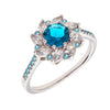 Similar product : Bertha Juliet Women's 18k White Gold Plated Blue Flower Fashion Ring
