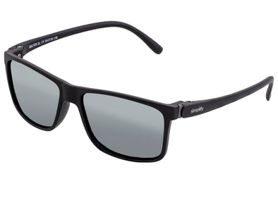 Simplify Ellis Polarized Sunglasses - Black/Silver SSU123-SL