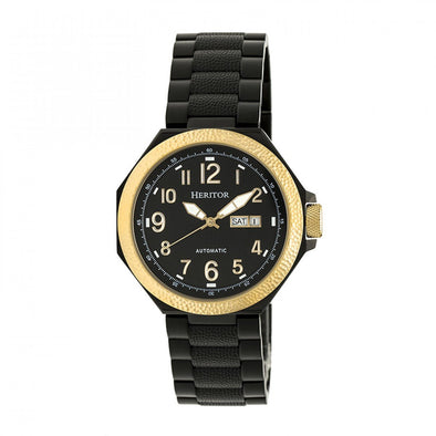 Heritor Automatic Spartacus Bracelet Watch w/Day/Date - Gold/Black HERHR5405