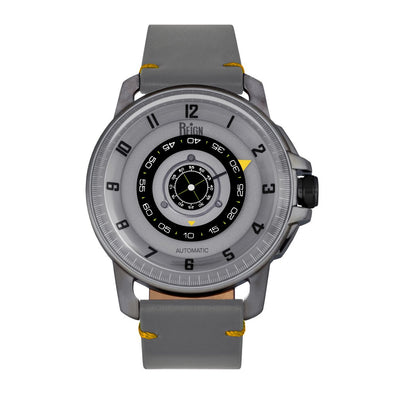 Reign Monarch Automatic Domed Sapphire Crystal Leather-Band Watch - Gunmetal/Grey REIRN5205