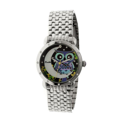 Bertha Ashley MOP Ladies Bracelet Watch - Silver BTHBR3008