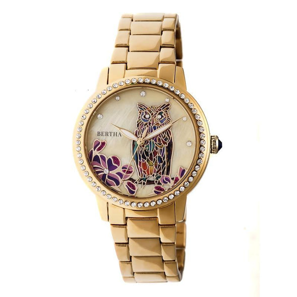 Bertha Madeline MOP Bracelet Watch - Gold