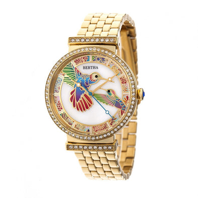 Bertha Emily Mother-Of-Pearl Bracelet Watch - Gold BTHBR7802