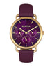 Similar product : Bertha Gwen Leather-Band Watch w/Day/Date - Purple