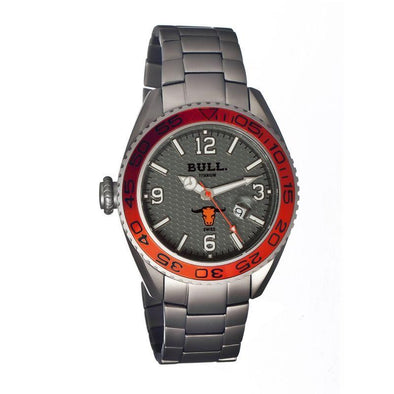 Bull Titanium Hereford Men's Swiss Bracelet Watch - Grey BULHR003