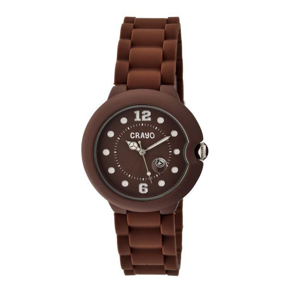 Crayo Muse Unisex Watch w/ Magnified Date - Brown CRACR1902
